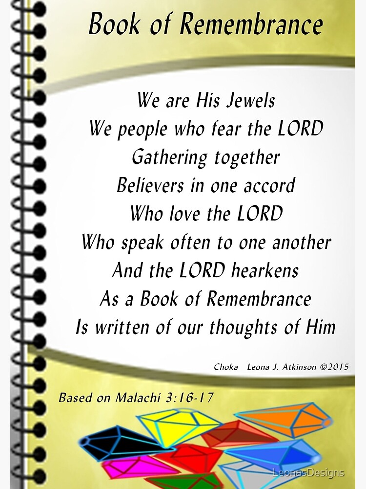 Book of Remembrance Journal by LeonasDesigns