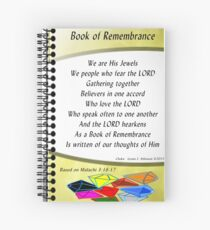 Book of Remembrance Journal Spiral Notebook
