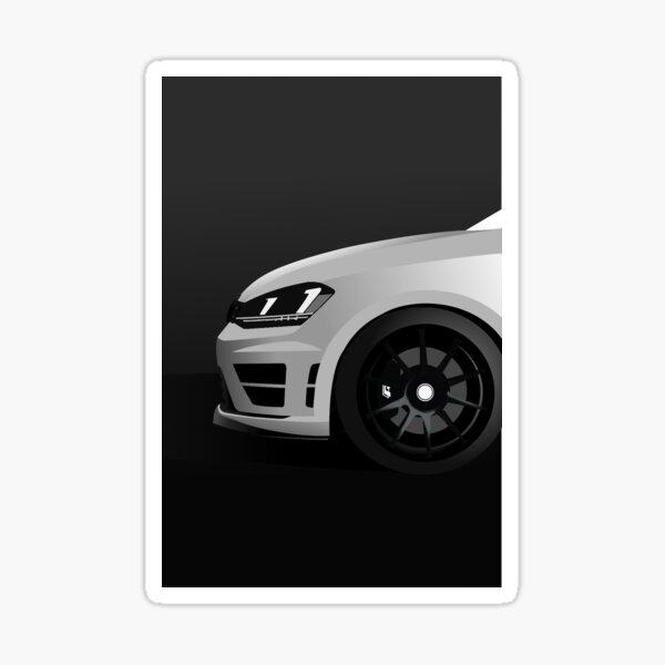 MK7 Golf R Side Shot Blanc Sticker