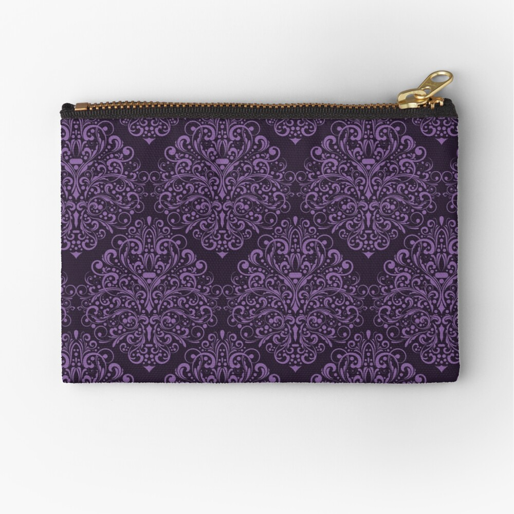 Damask Barok Zipper Pouch