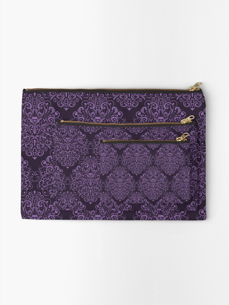 Alternate view of Damask Barok Zipper Pouch