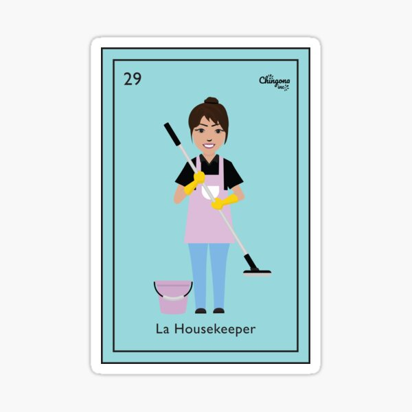 La Housekeeper Sticker