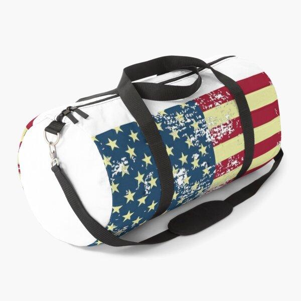 Grunge USA flag Duffle Bag