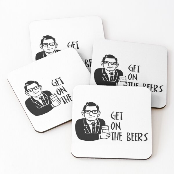 Get On The Beers Coasters (Set of 4)