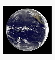 Satellite view of Earth centered over the Pacific Ocean.  Photographic Print