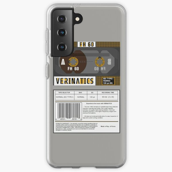 Verinatics FH 60 type 1 cassette (front and back) Samsung Galaxy Soft Case