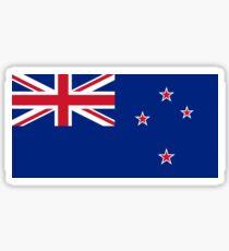 Neuseeland-Flagge - NZ alles schwarze T-Shirt Weltcup-Aufkleber Sticker