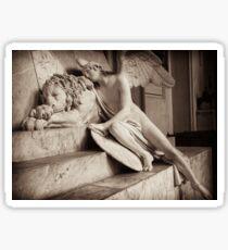 angel & lion  Sticker