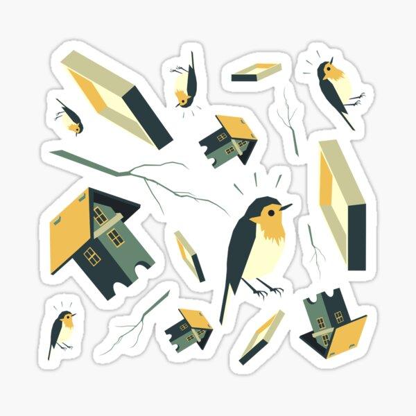 Flying Birdhouse (Pattern) Sticker