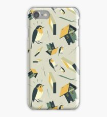 Flying Birdhouse (Pattern) iPhone Case/Skin