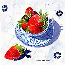 Strawberries in a Porcelain teacup by Carol Lee Beckx