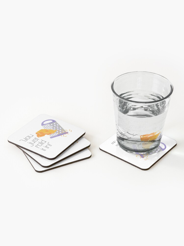 Alternate view of Fold in the Cheese - Moira Rose Coasters (Set of 4)