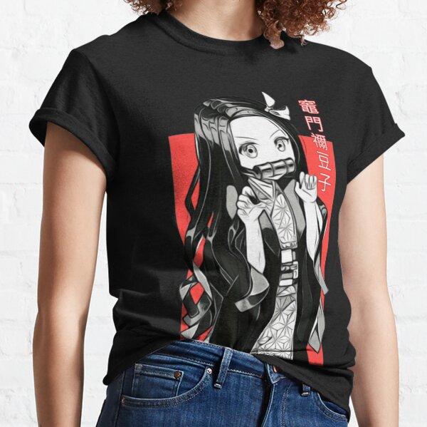 Nezuko Kamado-Kimetsu no yaiba Demon Slayer Camiseta clásica