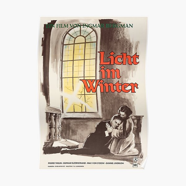 Winter Light - Vintage German Movie Poster Poster