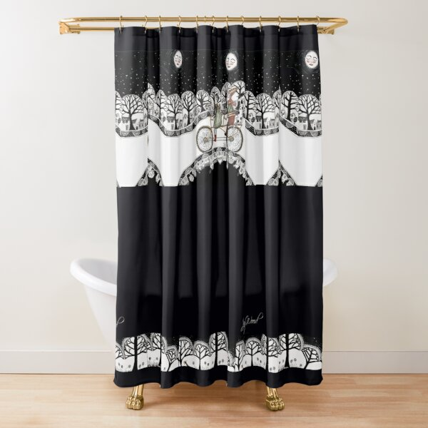 Cycling team Shower Curtain