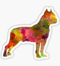 American Staffordshire Terrier in watercolor Sticker
