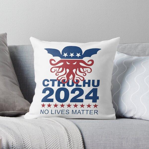 Cthulhu 2024 No Lives Matter Throw Pillow