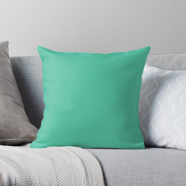 Biscay Green Color  Throw Pillow