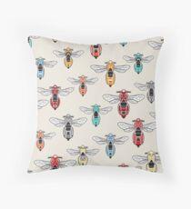 DoubleGood Vespa Wasp pattern Throw Pillow