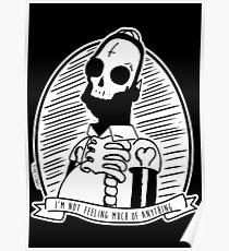 Alternative Punk Homer Simpson Skull Tattoo Art Poster