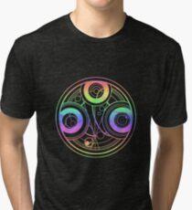 Rainbow Gallifreyan Doctor Who Tri-blend T-Shirt