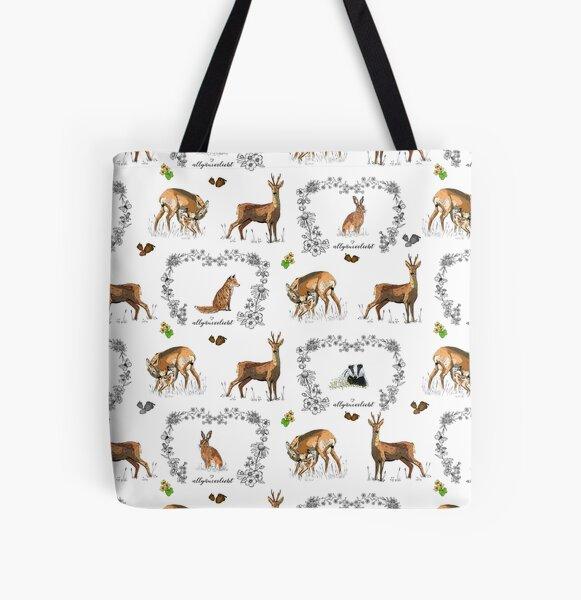allgaeuverliebt – Wildtiere auf der Lichtung Allover-Print Tote Bag