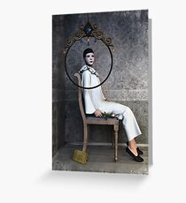 Pierrette sitting Greeting Card