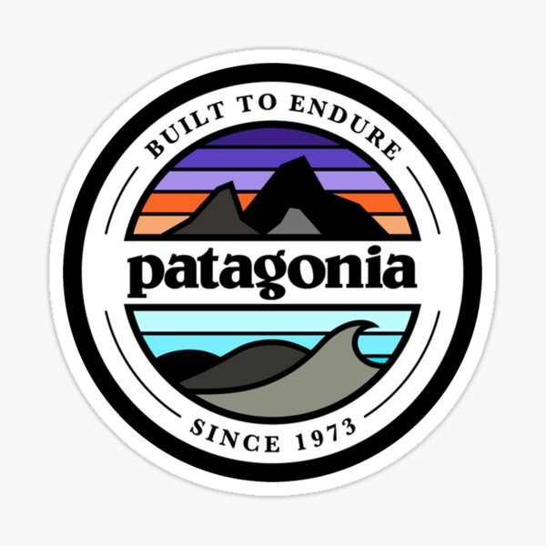 built to endure inspired ( patagonia ) Sticker