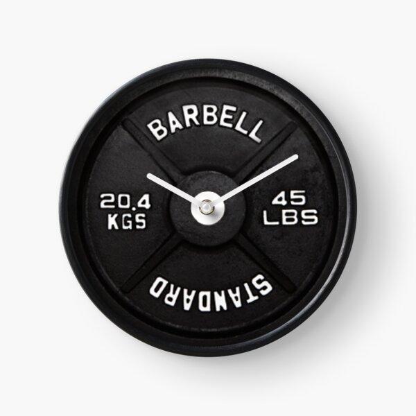 Standard barbell plate 45 LBS Clock