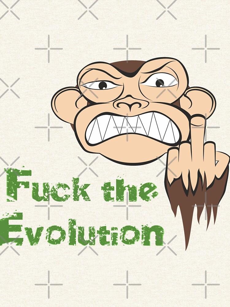 Wütende Affe Fuck The Evolution... von pASob-dESIGN