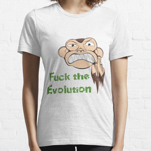 Wütende Affe Fuck The Evolution... Essential T-Shirt