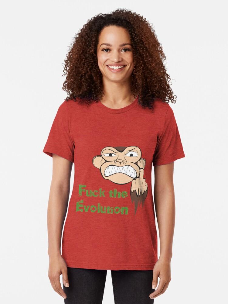 Alternative Ansicht von Wütende Affe Fuck The Evolution... Vintage T-Shirt