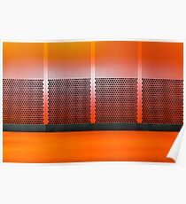 modern architecture in burnt orange Poster