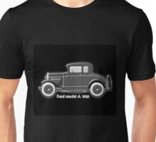 A digital painting of my vector drawing of The Ford Model A of the 1930s in greyscale Unisex T-Shirt