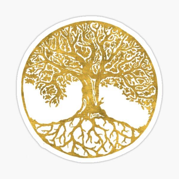 Gold tree of life symbol Sticker