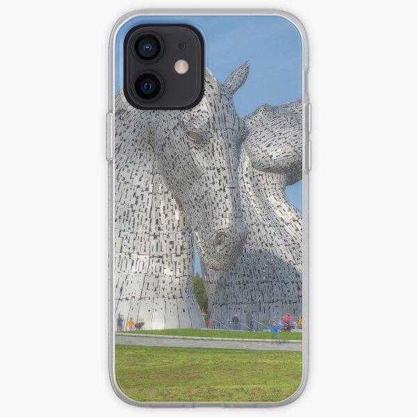 the Kelpies , Helix Park , Falkirk iPhone Soft Case