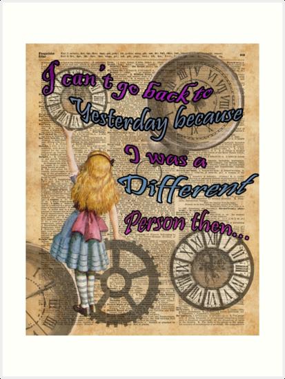 «Alicia en el país de las maravillas viajando en el tiempo» de DictionaryArt
