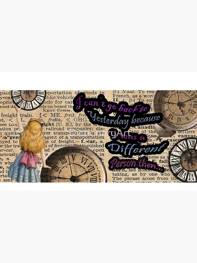 Alice im Wunderland in der Zeit reisen von DictionaryArt