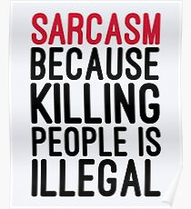 Sarcasm Funny Quote Poster