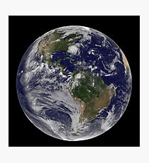 Full Earth with Hurricane Irene visible on the United States East Coast. Photographic Print