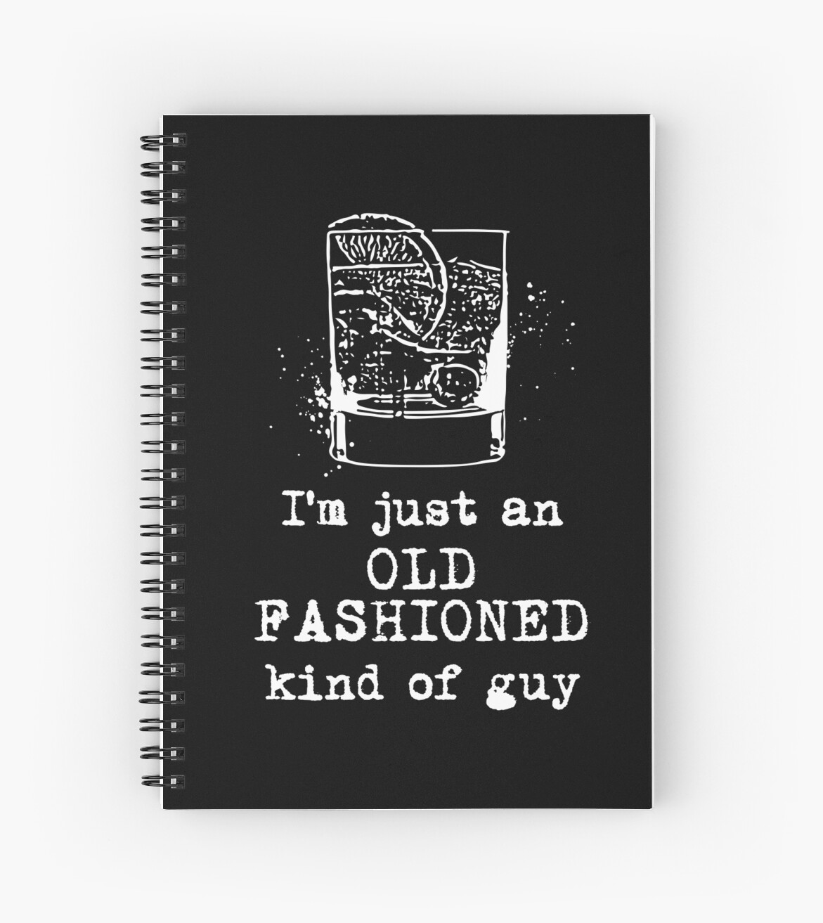 Old Fashioned Line Notebook