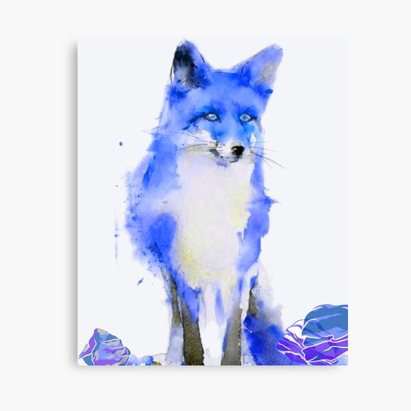 Bright Eyed and Bushy Tailed All In Blue Canvas Print