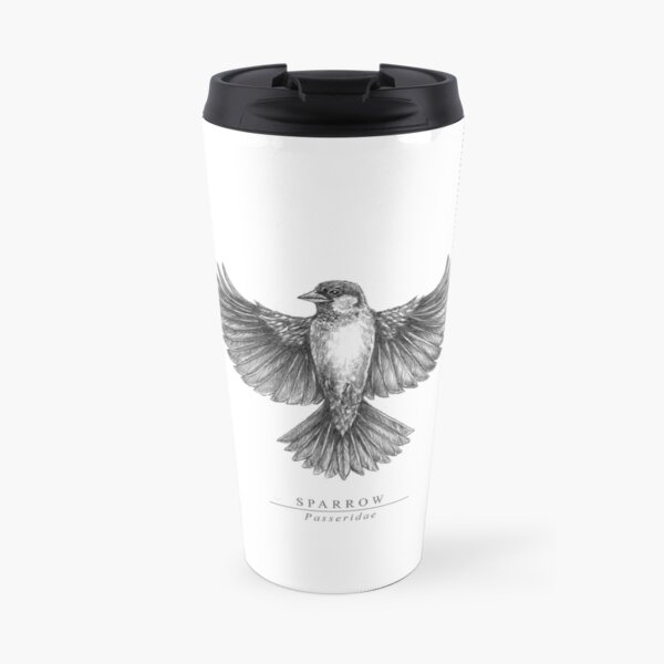 Sparrow Spreading Wings Travel Mug