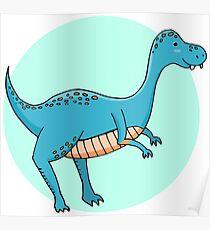 Blue dinosaur Poster