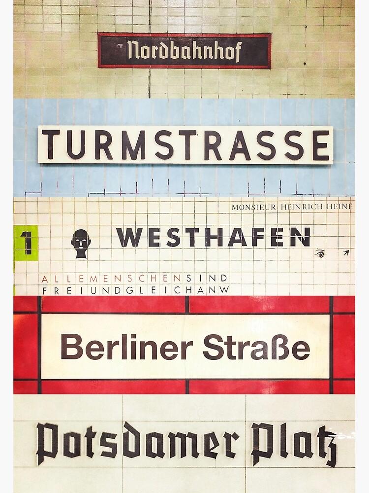 Berlin S-Bahn Stops by timashworth