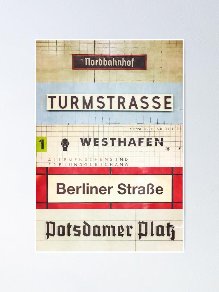 Alternate view of Berlin S-Bahn Stops Poster