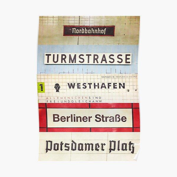 Berliner S-Bahn-Haltestellen Poster