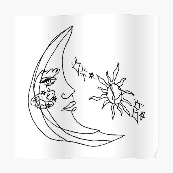 tatuaje de ariana moon Póster