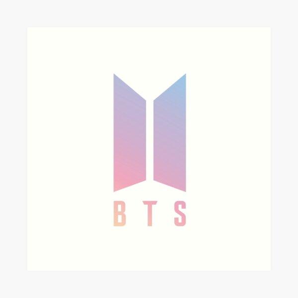 MEJOR PARA COMPRAR - Logotipo de BTS Lámina artística