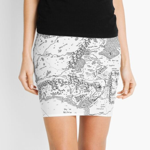 Fantasy Map Middle -earth Mini Skirt